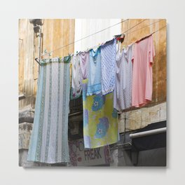 LAUNDRY DAY - Catania - Sicily Metal Print