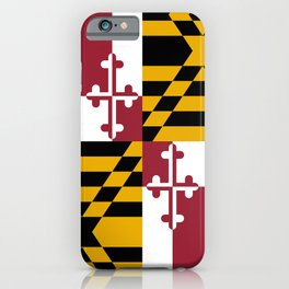 Maryland State Flag iPhone Case
