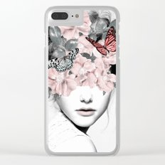 WOMAN WITH FLOWERS 10 Clear iPhone Case