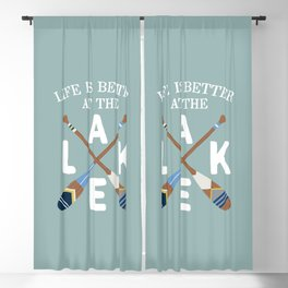 Life Is Better At The LAKE Painted Paddles Blackout Curtain