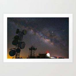 Milky Way over Mount Laguna Observatory Art Print