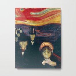 Edvard Munch - Anxiety Metal Print