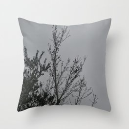 Tree With Dot Throw Pillow