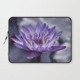 Purple Water Lily Laptop Sleeve