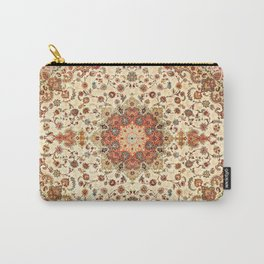 N71 - Orange Antique Heritage Traditional Moroccan Style Mandala Artwork Carry-All Pouch