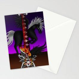 Fusion Keyblade Guitar #193 - Unicornis' Keyblade & One-Winged Angel Stationery Cards