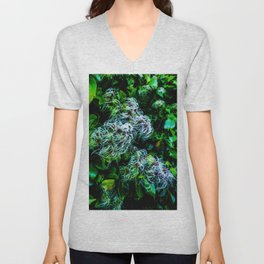 The Entwined Clematis Unisex V-Neck