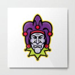 Jester Head Mascot Metal Print