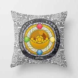 Sailor Moon - Crystal Transformation Brooch Throw Pillow