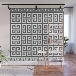 Greek Key (Grey & White Pattern) Wall Mural
