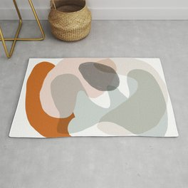 Shapes and Layers no.15 - soft neutral colors Rug