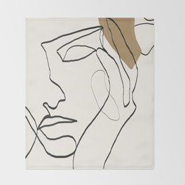 Abstract Face Throw Blanket