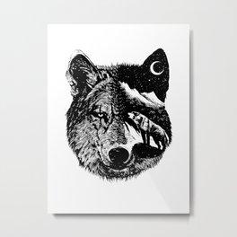 Night wolf Metal Print
