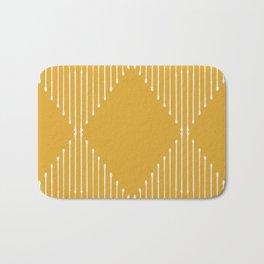 Geo / Yellow Badematte