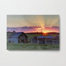 Home Town Sunset Metal Print