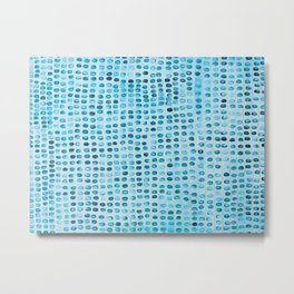 Blue Spots Metal Print