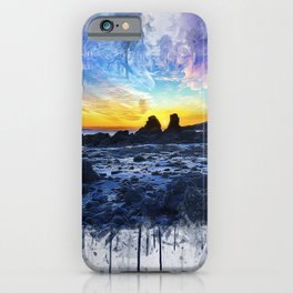Ocean Sunset Painting iPhone Case