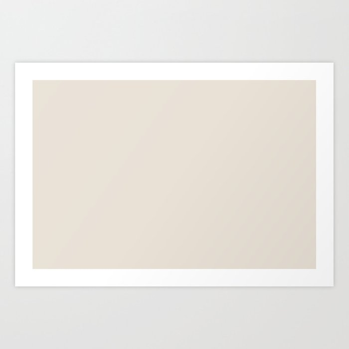 Sherwin Williams Trending Colors of 2019 Porcelain (Off White / Cream / Ivory) SW 0053 Solid Color Kunstdrucke