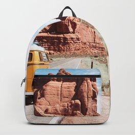 Yellow Van Desert Road Trip Photography Backpack
