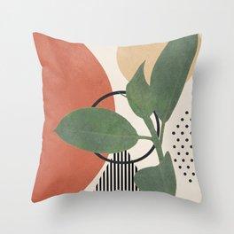 Nature Geometry III Throw Pillow