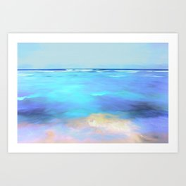 Soft Violet Foam Art Print