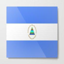 flag of nicaragua - Nicaraguans,Nicaragüense,Managua,Matagalpa,latine. Metal Print