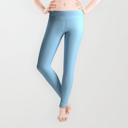 Solid Pale Light Blue Color Leggings
