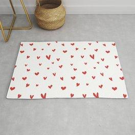 Red Heart Doodle Rug