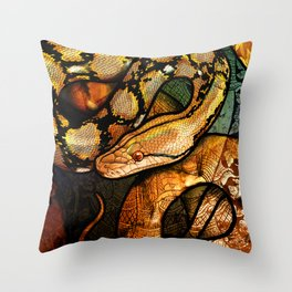 Reticulated Python Throw Pillow