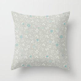 bubbles in the water Throw Pillow