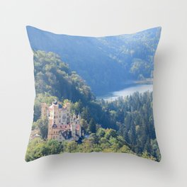 Schlöss Hohenschwangau Throw Pillow