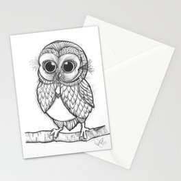 OWL ON THE LOOK OUT.... Stationery Cards