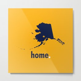 Alaska Proud Metal Print