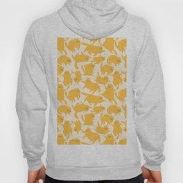 Yellow Cats Pattern Hoody