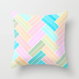 Ombre Pastel Herringbone pattern Throw Pillow