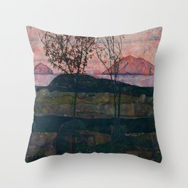 "Egon Schiele ""Setting Sun"" Throw Pillow"