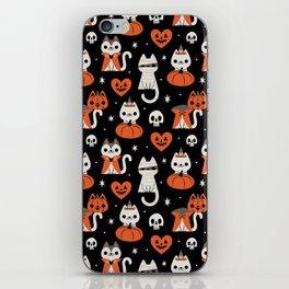 Halloween Kitties (Black) iPhone Skin