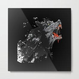 Angry Wolf Design Metal Print