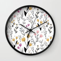 Flower Pattern Wall Clock