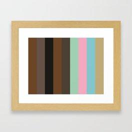 SUBSTANCE : Sepia, Umber, Black, Sepia, Taupe, Aquamarine, Nadeshiko Pink, Cyan, Ecru. Framed Art Print