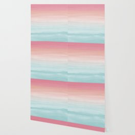 Touching Watercolor Abstract Beach Dream #1 #painting #decor #art #society6 Wallpaper