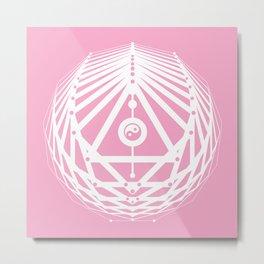 Radiant Abundance (pink-white) Metal Print