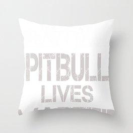 Pitbull Lives Matter funny Tshirt Throw Pillow