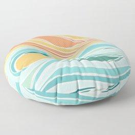 Sea and Sky II Floor Pillow