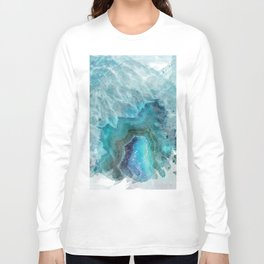 Blue Aqua Agate Long Sleeve T-shirt