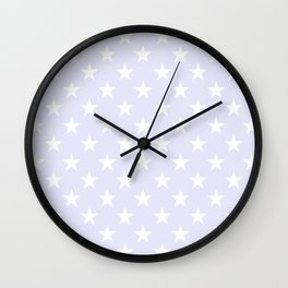 STARS (WHITE & LAVENDER) Wall Clock