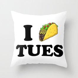 I taco tuesday Throw Pillow