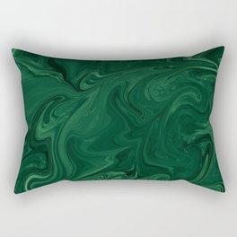 Modern Cotemporary Emerald Green Abstract Rectangular Pillow