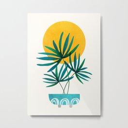 Little Palm + Sunshine Metal Print