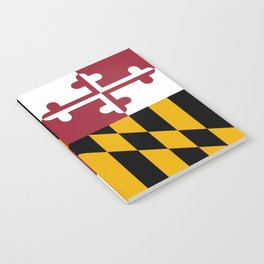 Maryland state flag Notebook